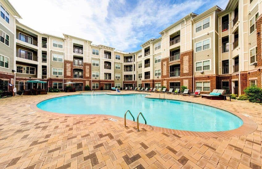 Swim at our refreshing pool at The Marq at Weston in Morrisville, NC