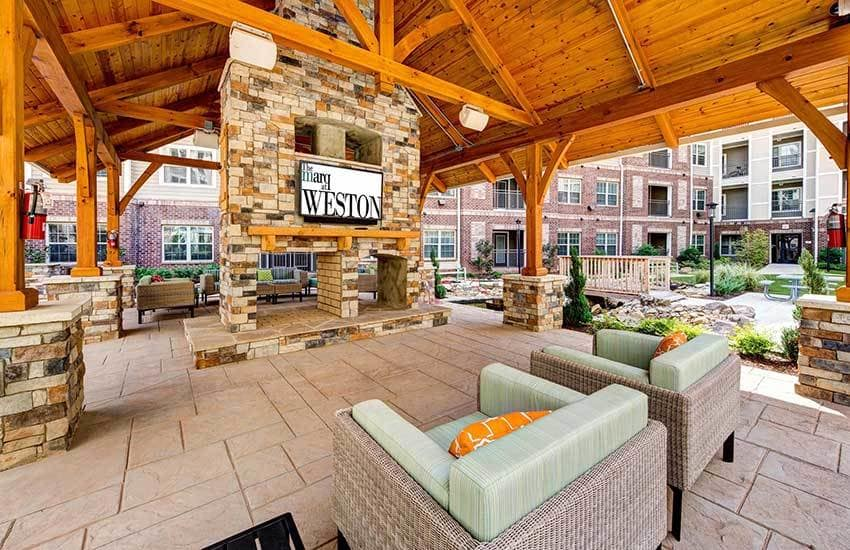 Outdoor room at The Marq at Weston in Morrisville, NC