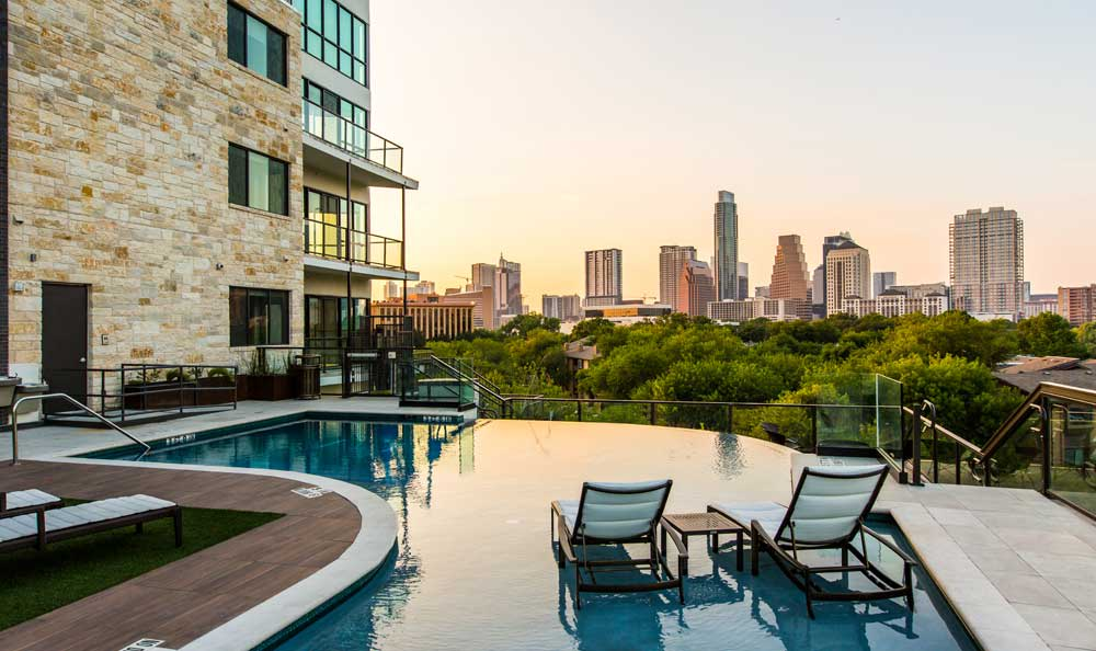 Pool at apartments in Austin, TX