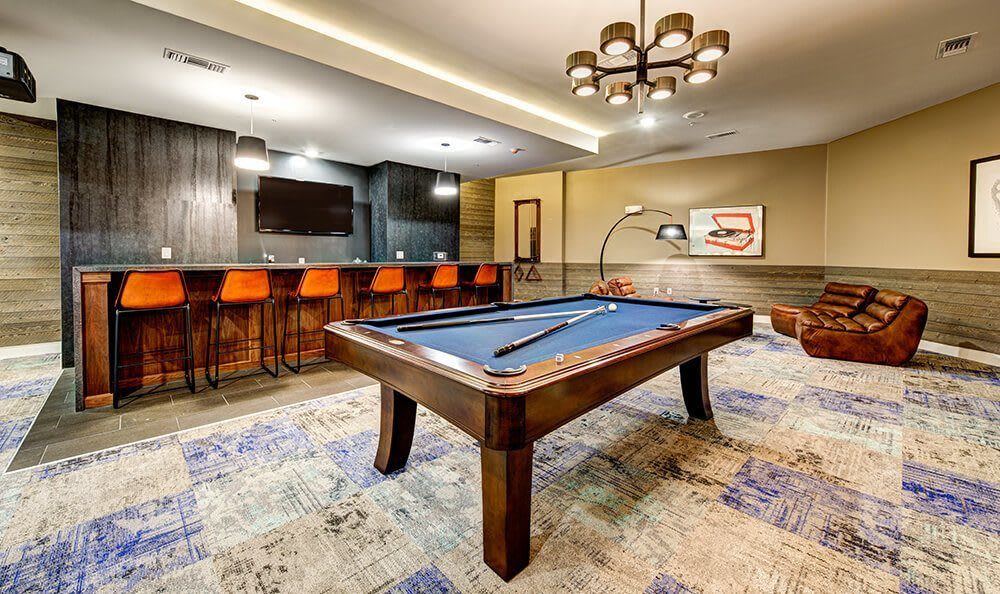 Billiards at apartments in Austin, TX