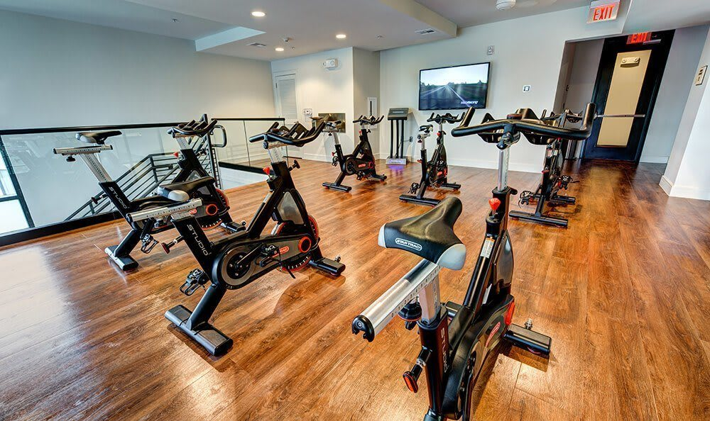 Gym at apartments in Austin, TX