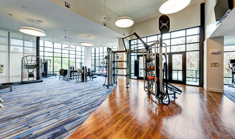 Fitness center at Water Marq in Austin, TX