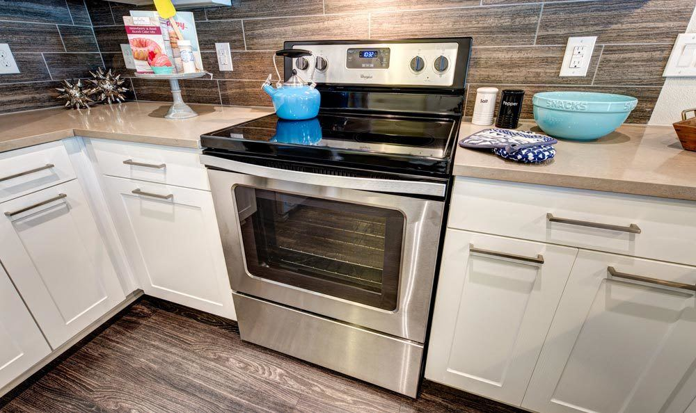 Stainless steel appliances at Water Marq in Austin, TX