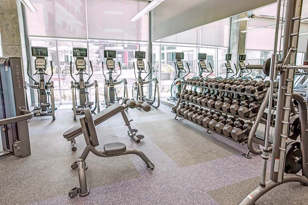 Fitness center at Marq on Burnet in Austin, TX