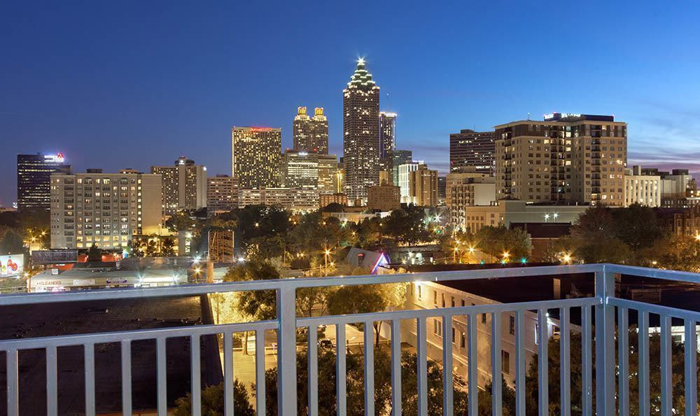 View of Atlanta at night from Marq on Ponce