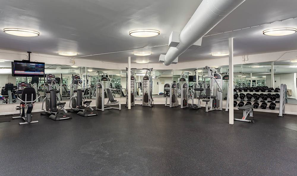 Fitness center at Marq on Ponce in Atlanta, GA