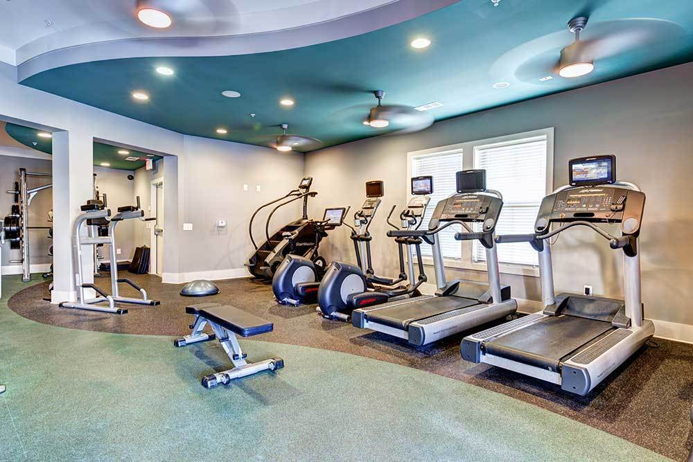 Fitness center at Marquis at Morrison Plantation in Mooresville, NC