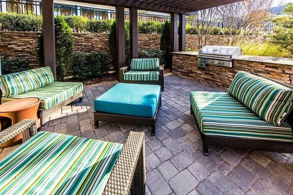 Patio at Marquis at Morrison Plantation in Mooresville, NC