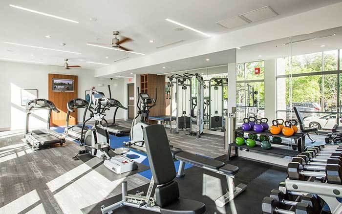 exercise facility at Marq Midtown 205 in Charlotte, NC