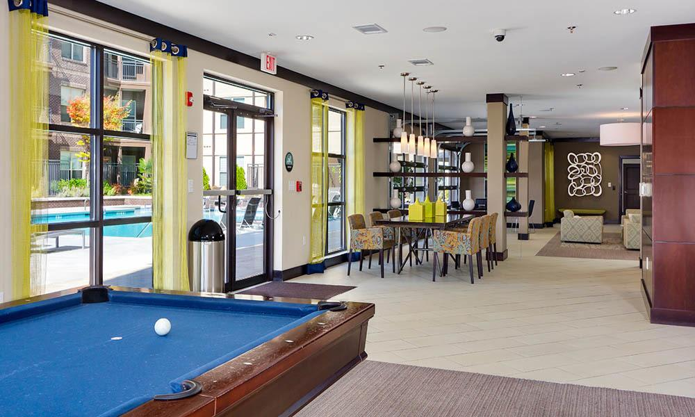 Clubhouse With Pool Table at Marq Eight in Atlanta, GA