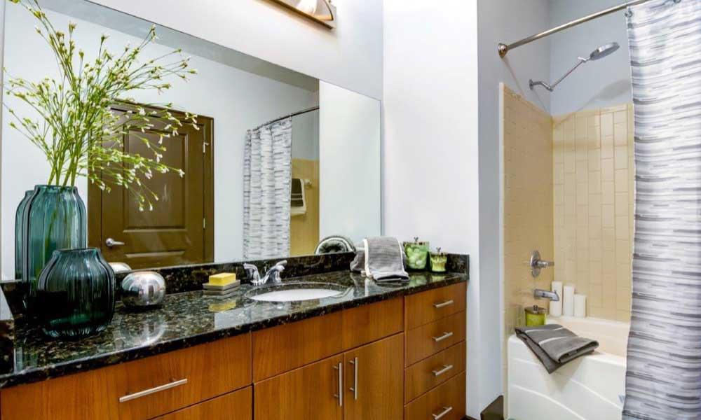 Example bathroom at apartments in Atlanta