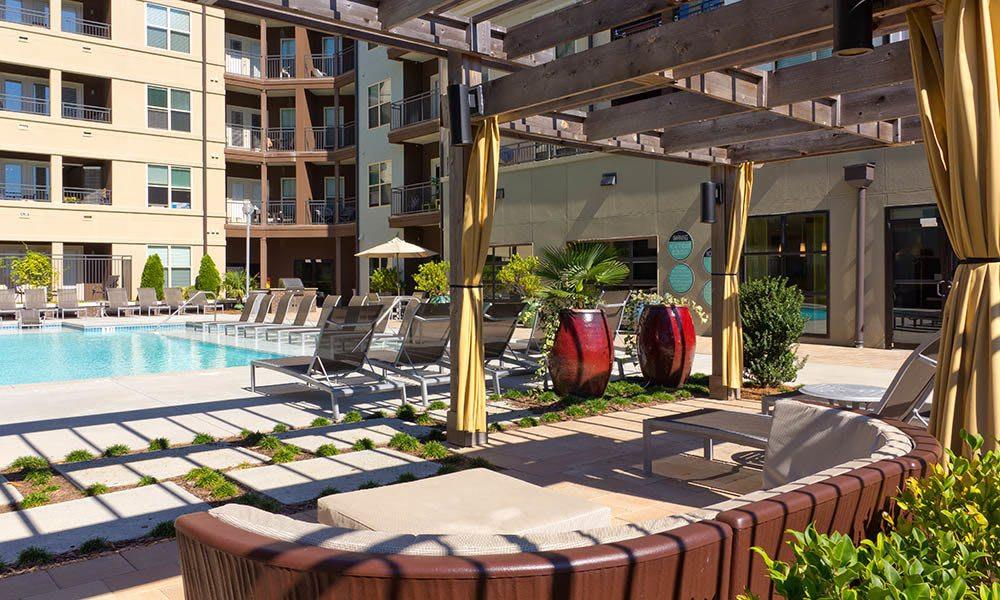 Seating Around The Pool at Marq Eight in Atlanta, GA
