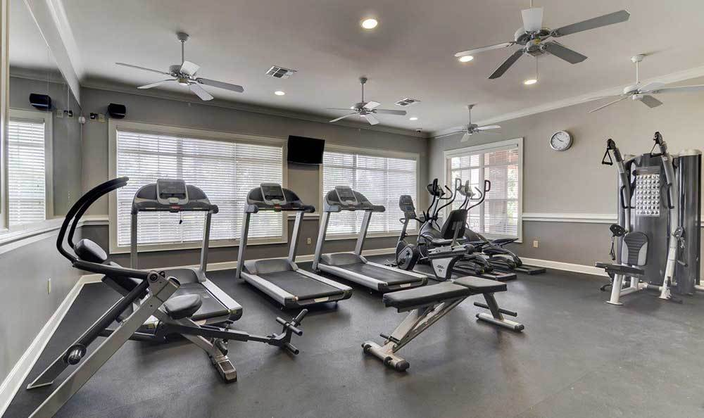 The gym will keep you in shape at Marquis at The RIM