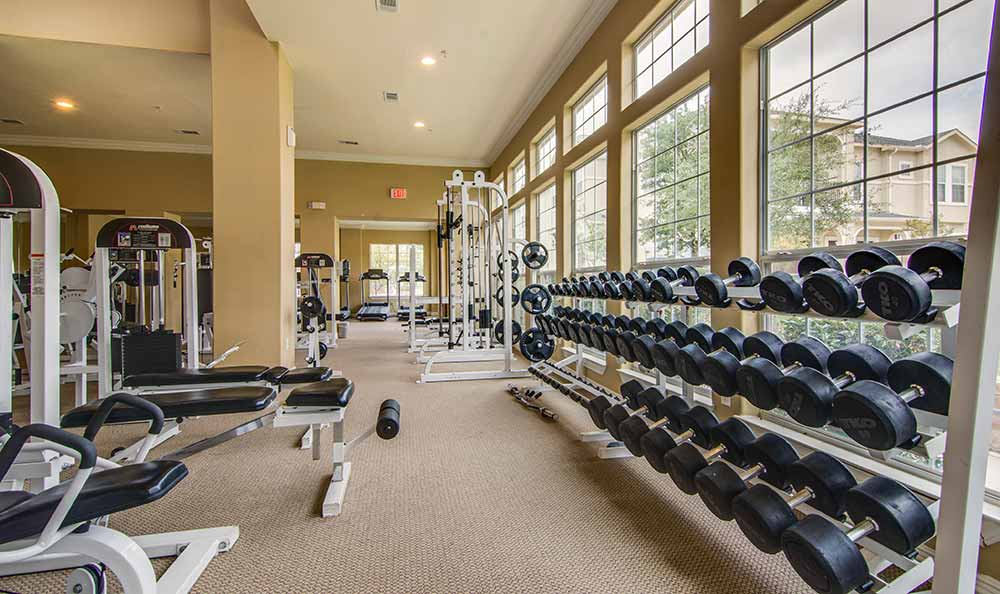 Fitness center at Marquis at The Cascades in Tyler, Marquis at The Cascades