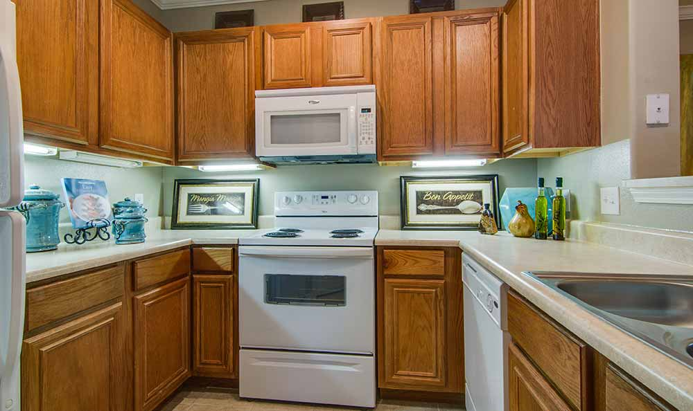 Enjoy the counter space in the kitchens Marquis at The Cascades in Tyler, Marquis at The Cascades