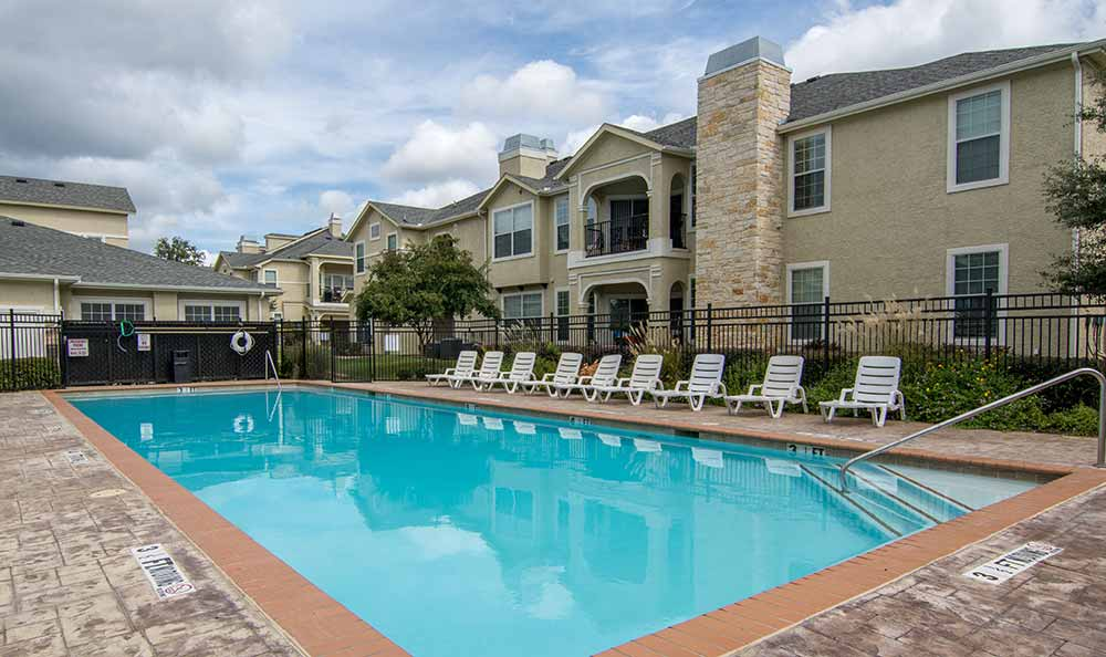 Swimming pool at Marquis at The Cascades in Tyler, TX