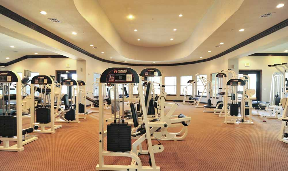 Fitness center at Marquis at Stone Oak in San Antonio