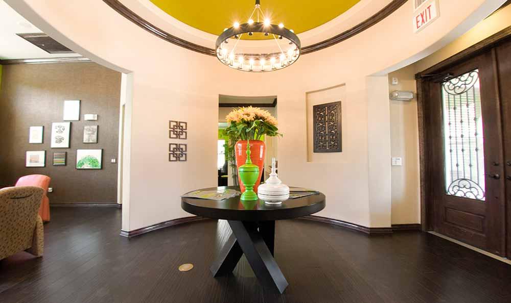 Welcoming lobby at Marquis at Crown Ridge in San Antonio
