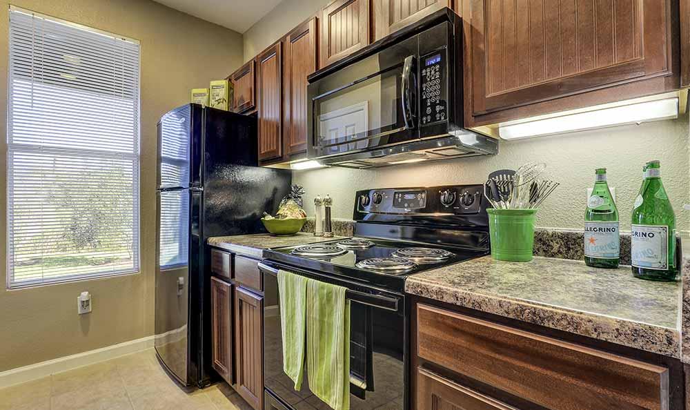 Upgraded kitchen at Marquis at Crown Ridge in San Antonio