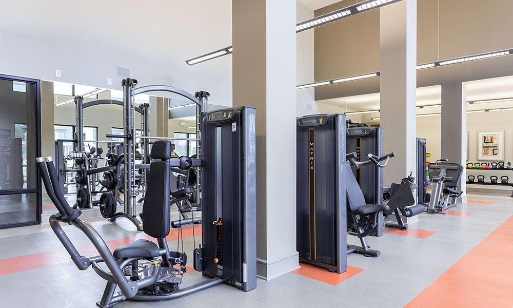 Well Equipped Fitness Center at Marq Uptown in Austin, TX