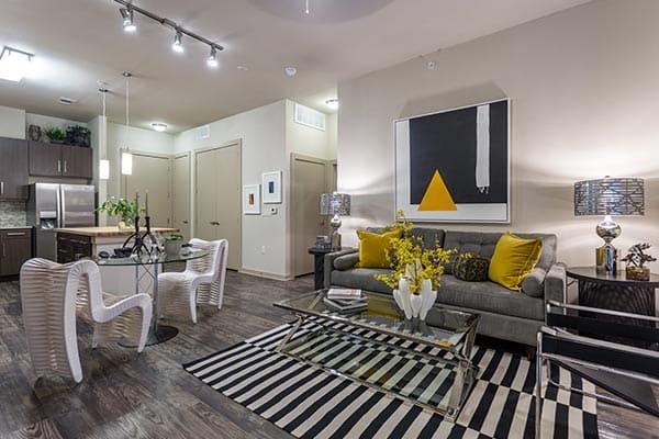 Apartment interior in Austin