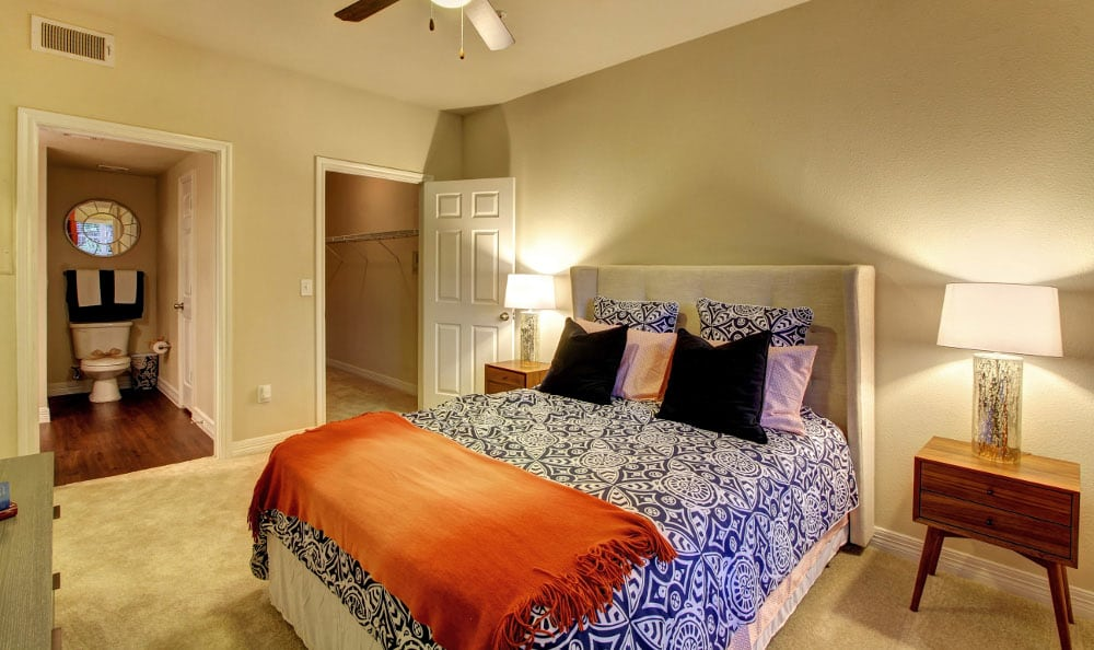Model bedroom at Marquis at Kingwood in Kingwood, Marquis at Kingwood