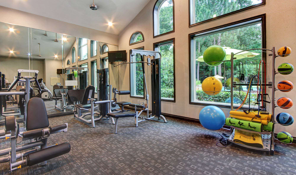 Fitness center at Marquis at Kingwood in Kingwood, Marquis at Kingwood