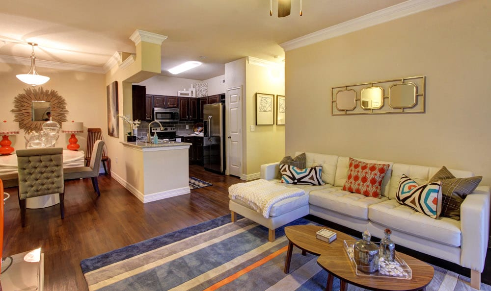 Enjoy family in the living room at Marquis at The Woodlands in Spring, Marquis at The Woodlands