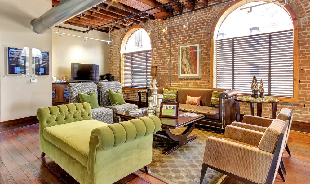 Sit with friends and family at The Marquis Downtown Houston Lofts in Houston, TX