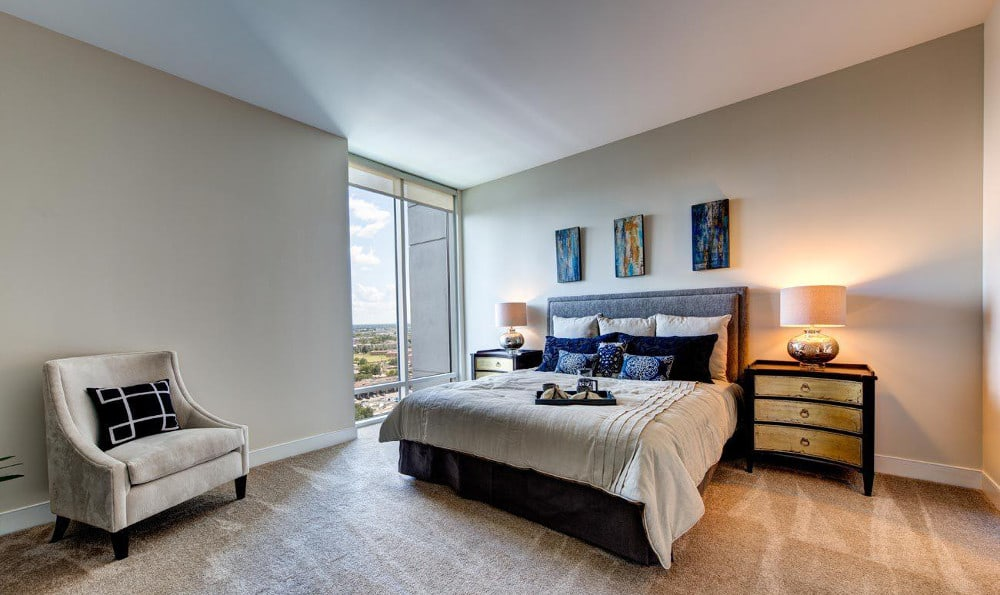 End the night in a spacious bedroom at M5250, in Houston, TX