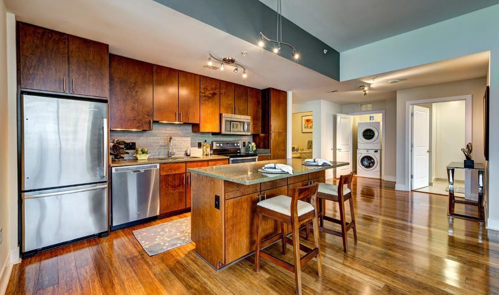 Cook a meal in the beautiful kitchen at M5250, in Houston, TX