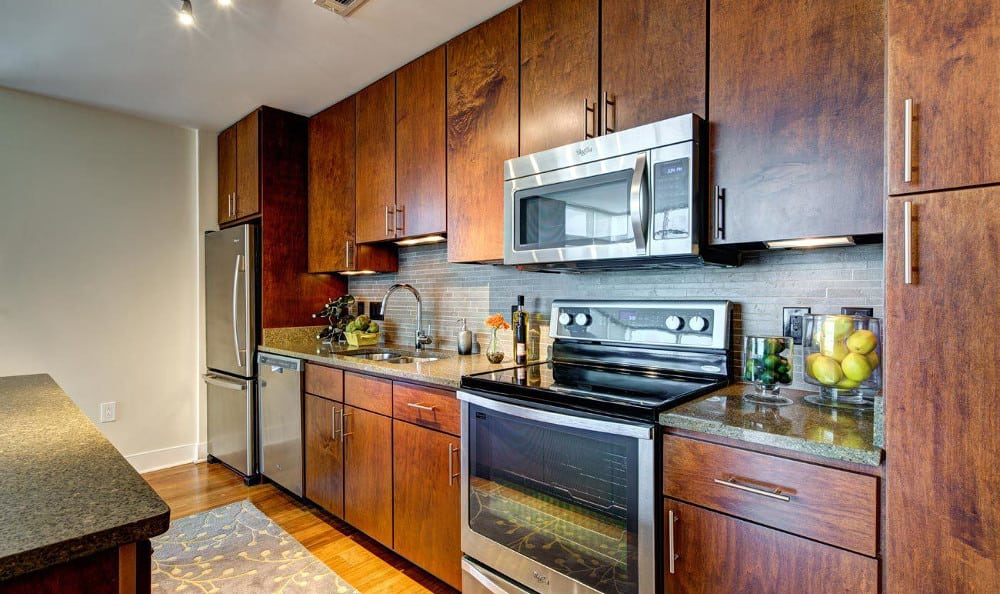 Enjoy the kitchen counter space at M5250, in Houston, TX