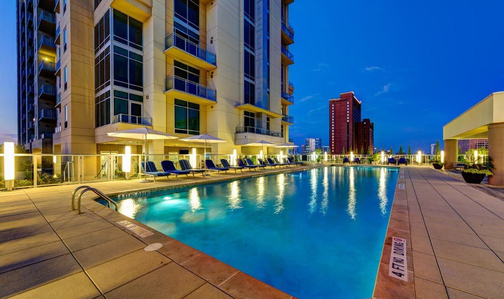 Relax by the pool at M5250, in Houston, TX