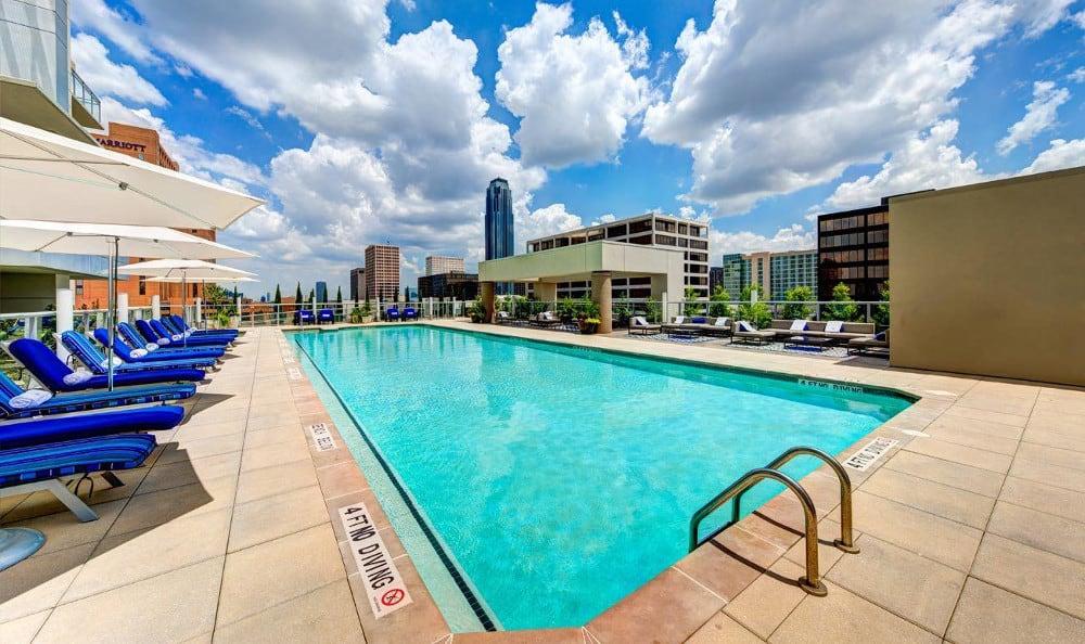 Beautiful swimming pool at M5250, in Houston, TX