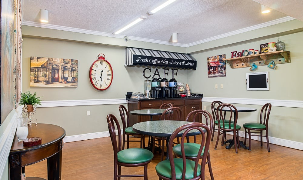 Coffee shop at senior living in Delray Beach, FL