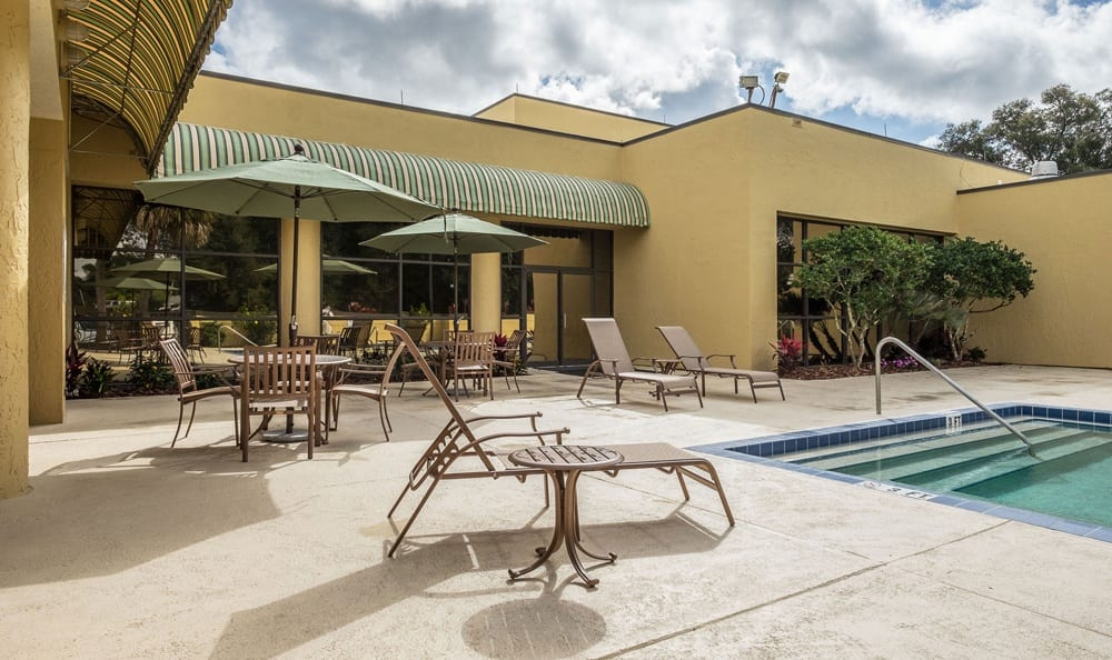 Swimming Pool and Lounge at Grand Villa of DeLand in DeLand, Florida