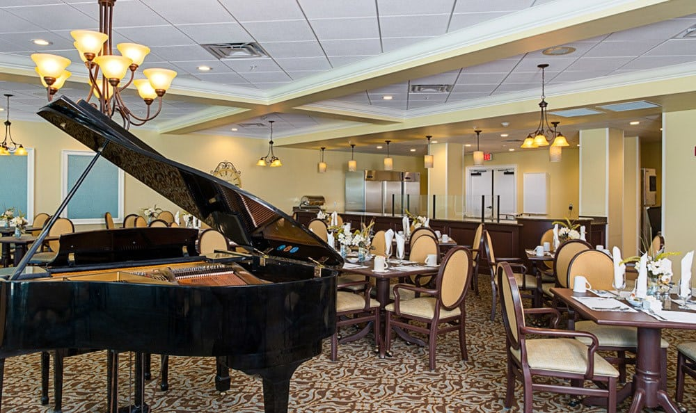 Our resident lounge here at Grand Villa of St. Petersburg is a great place to gather with your new-found friends at our wonderful senior living community in Grand Villa of St. Petersburg