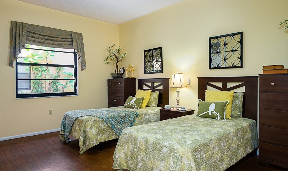 Bedroom At Our Senior Living Community In Pinellas Park