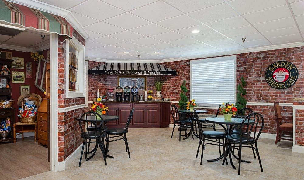 Cafe inside Grand Villa of Pinellas Park in Florida