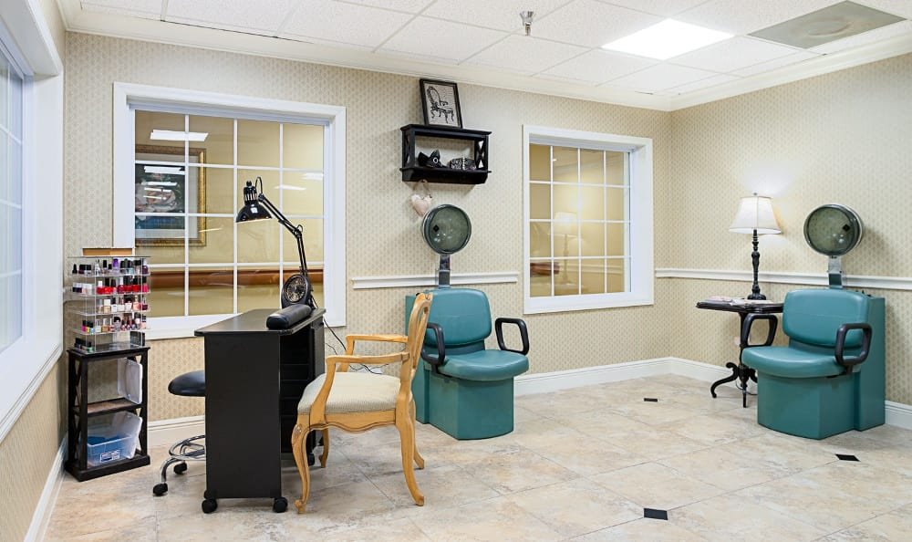 Salon and barbershop at Grand Villa of Pinellas Park in Florida