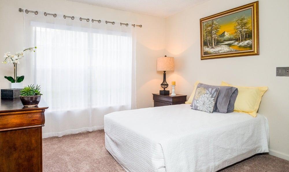 Beautiful bedroom at Grand Villa of Delray East in Delray Beach, Florida