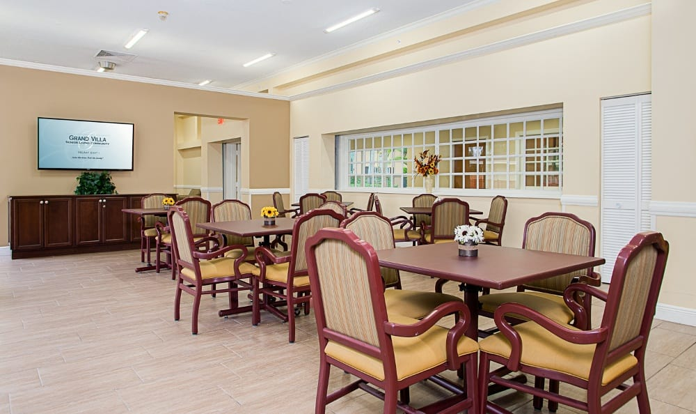 Beautiful clubhouse at apartments in Delray Beach, Florida