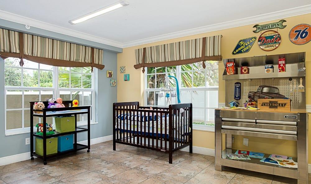 Playground kindergarden at apartments in Delray Beach, Florida
