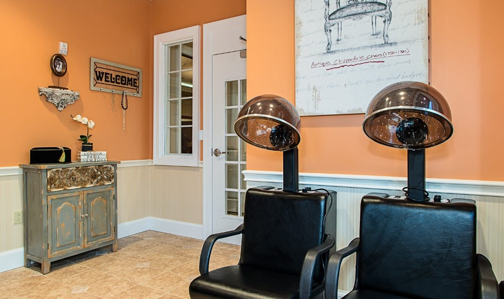 Salon At Our Senior Living Community In Melbourne