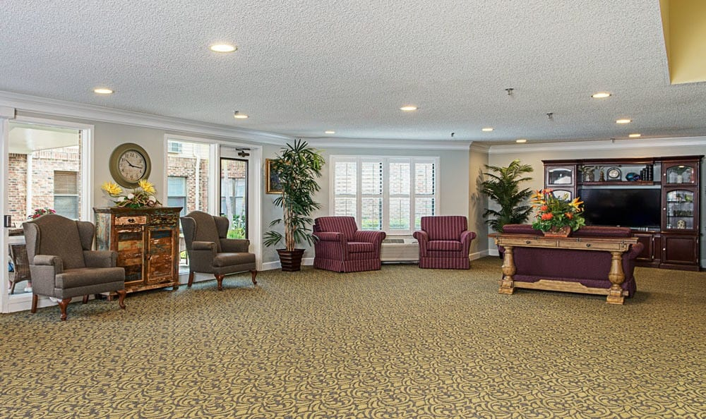 Entertainment room at senior living in Ormond Beach, FL