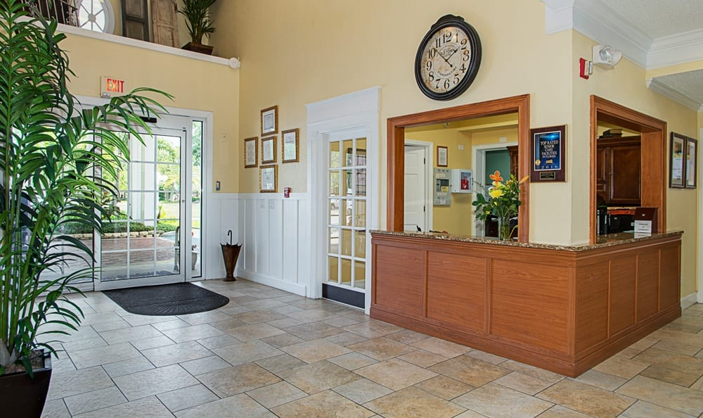 Front foyer at Grand Villa of Largo in Florida
