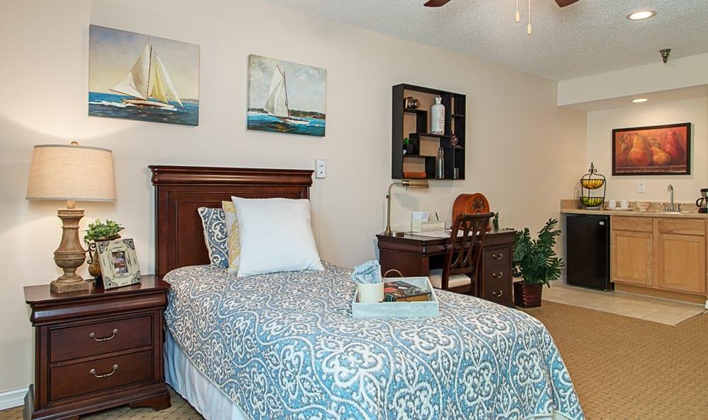 Room at senior living in Largo, FL