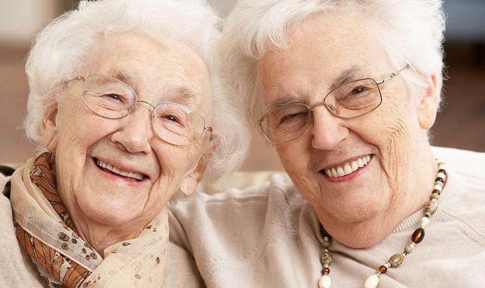 Two happy women at senior living in New Port Richey