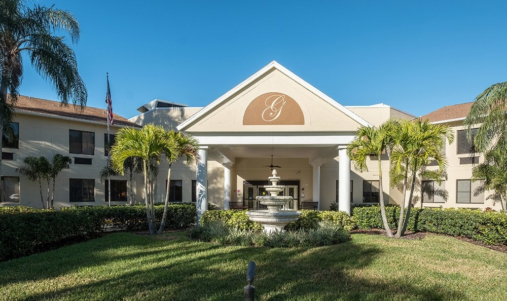 Front entrance of Senior-Living in Dunedin, FL