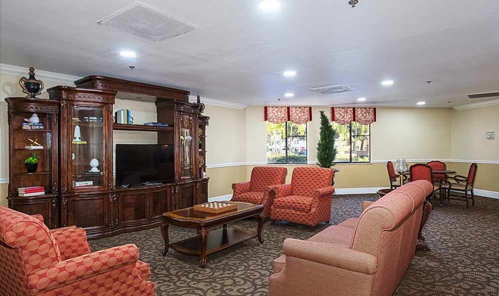 Community sitting area at Senior-Living in Dunedin, FL